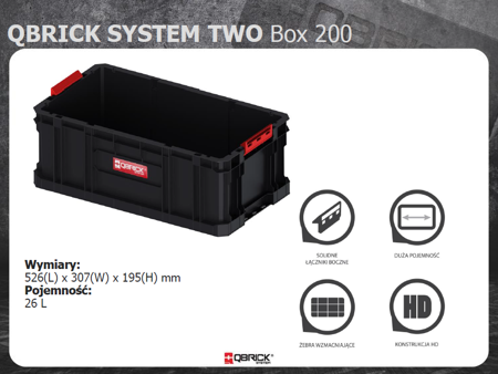 Skrzynia QBRICK SYSTEM TWO BOX 200